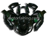 For kawasaki bodywork zx14r 06-09 body fairings kit/motorcycle racing fairing/bodywork black/green