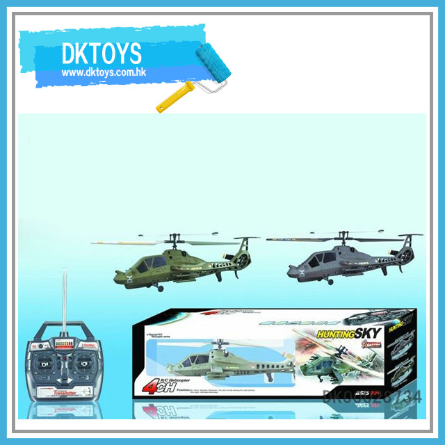 4 channel single blade remote controll military helicopter