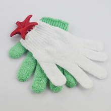 LingChen High Quality Customized Bath Nylon Exfoliating Gloves