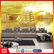 golden boat and season design chinese wallpaper classic wallcoverings