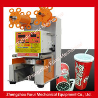2014 semi automatic tube filling sealing machine/automatic bubble tea cup sealing machine/automatic heat sealing machine 0086131