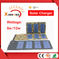 12W 5V 2.1A External Usb High Efficiency Solar Power Panel Charger Portable Bag Charger Phones