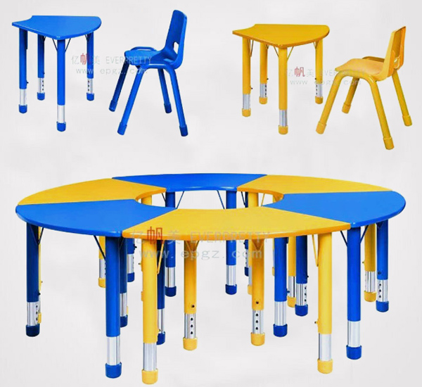 Primary School Furniture Kids Study Desk Table and Chair