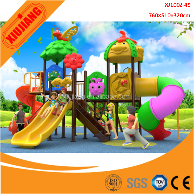 Children playland plastic outdoor play equipment for kindergarten