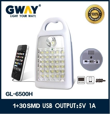 Good Quality Portable Led emergency lamp with USB mobile charger