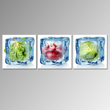 Frozen Vegetable Canvas Art for Dining Hall/frameless Canvas Print/food Picture Giclee Print