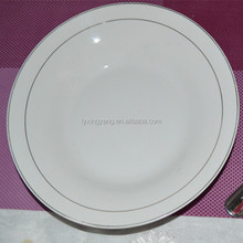 silver rim dinner plate,dinner plates with silver trim,dinner plates corelle