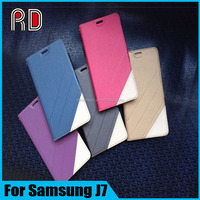 Wholesale Wallet Stand Patchwork Flip Leather Case For Samsung J7