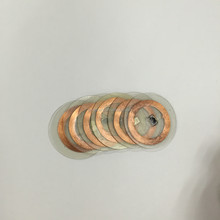 Transparent Clear 125Khz TK4100 RFID Coin Tag with Copper Antenna