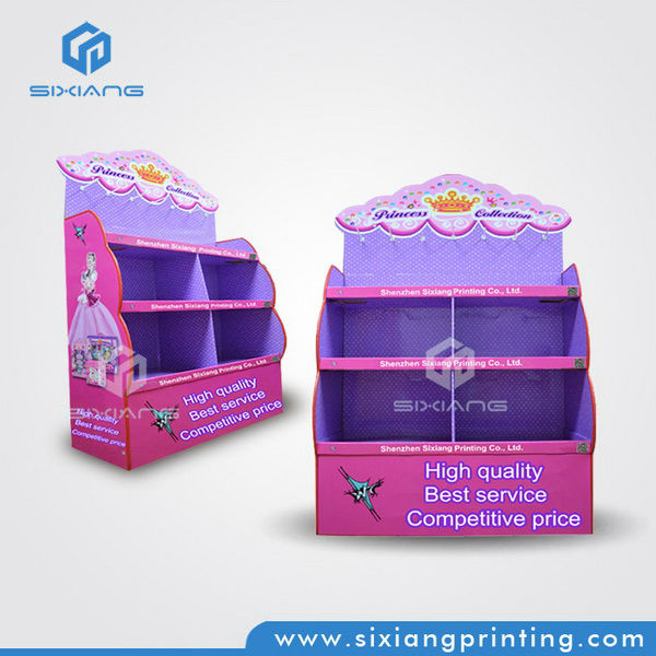 China Supplier Fancy Offset Printing Cardboard Store Display Racks for Retail Store