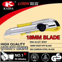 Zinc alloy 18mm Blade Screw Lock Utility Cutter Knife four styles