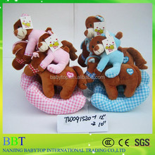riding a horse two colour bear high quality cute soft plush baby Toy