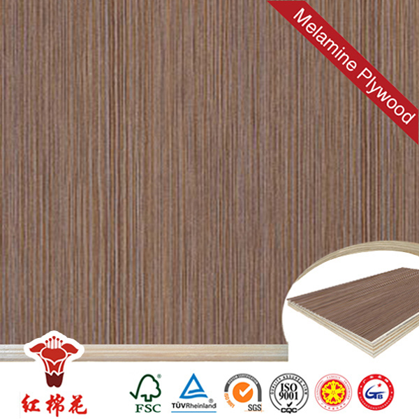 Best price brown straight grain veneer plywood in china