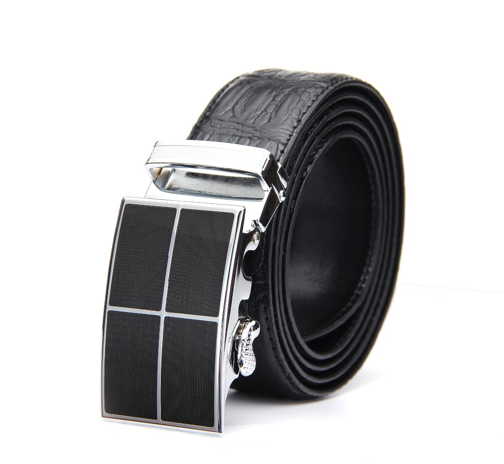 High quality wholesale custom business pin buckle genuine leather belts for men