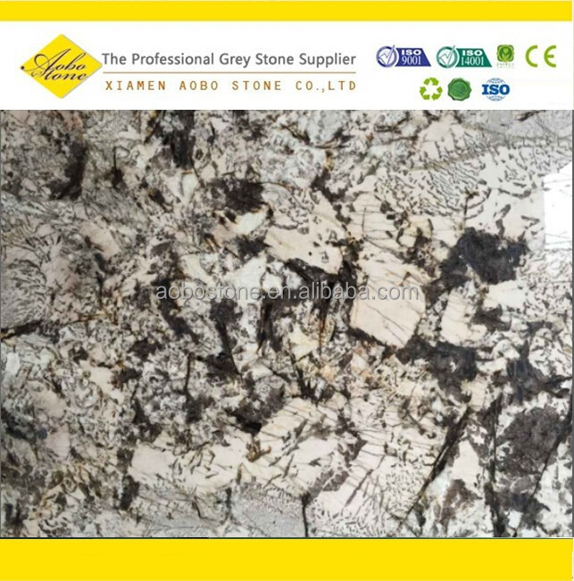 Brazilian imported polished delicatus white granite Slabs