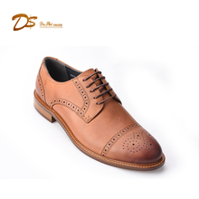2017 new style custom lace up soft leather men dress shoes