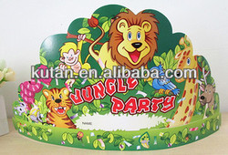 cartoon paper birthday party cap/crazy party ideas for kids