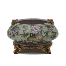 2016 New design Luxury Antique home decor porcelain with copper handmade decorative Ashtray