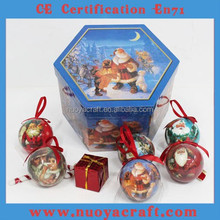High Quality custom hand painted christmas ball ornament