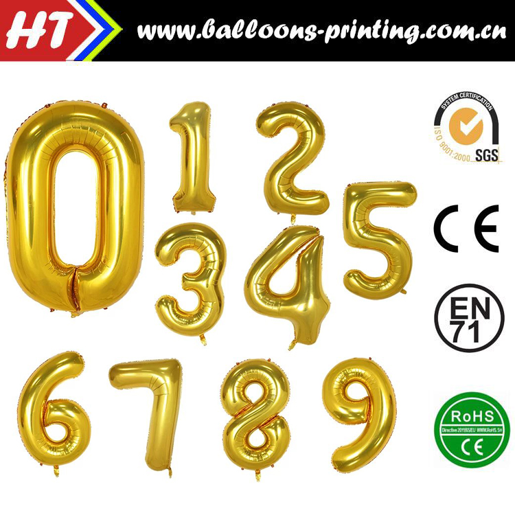40inch New Superr Gold Helium Foil Number Balloon Birthday/Wedding /events/Decor