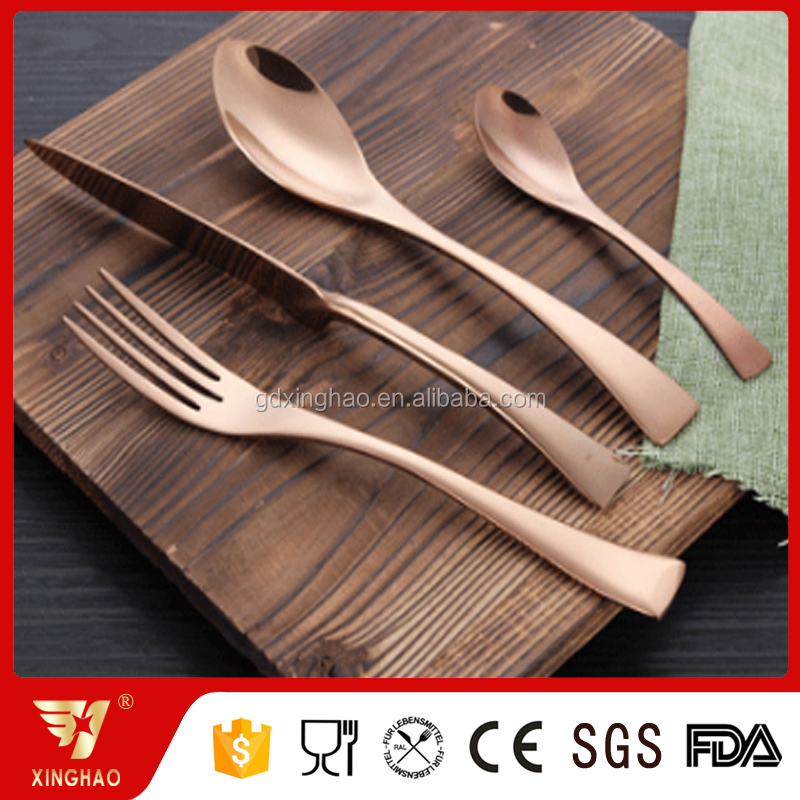 Wedding Events Copper Cutlery, PVD Plated Rose Gold Cutlery, Copper Flatware
