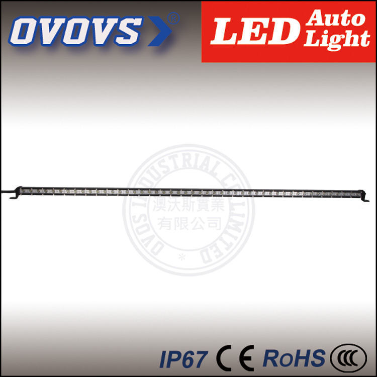 OVOVS auto part waterproof IP67 50 inch 12v 144w slim led light bar for atv truck