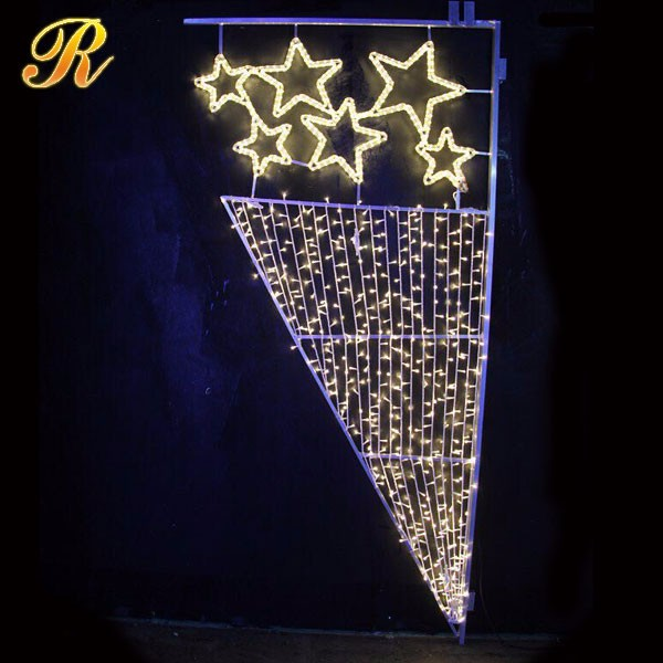 Christmas street decorative pole star motif light