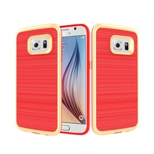 Hybrid pc tpu brushed back cover case for Samsung Galaxy S7 Edge