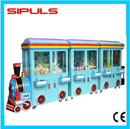 2016 High Quality Game Zone Coin Operated Train Claw Crane Vending Machine