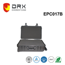 rugged professional plastic storage instrument carring equipment case with handle