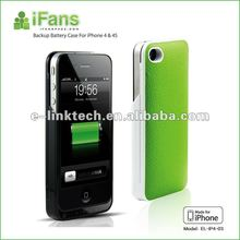 iFans aluminum case with power supply for iphone 4 4s+1450mAh+Original battery cell in+OEM welcome