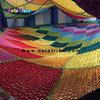 Customized indoor playground accessaries rope hand crocheted play climbing net