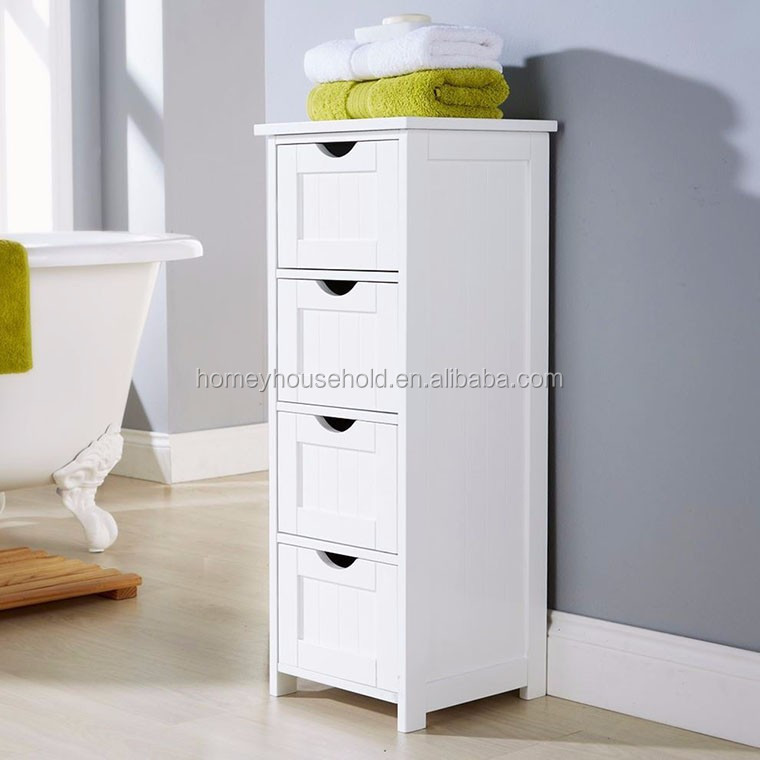 Wholesale new arrive wooden multi drawer cabinet in white