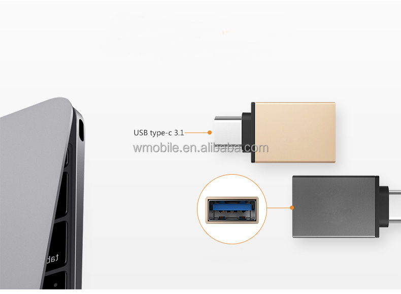 Hot!Factory price reversible USB C-Type C to USB 3.0 Data charging Adapter with OTG function from shenzhen factory