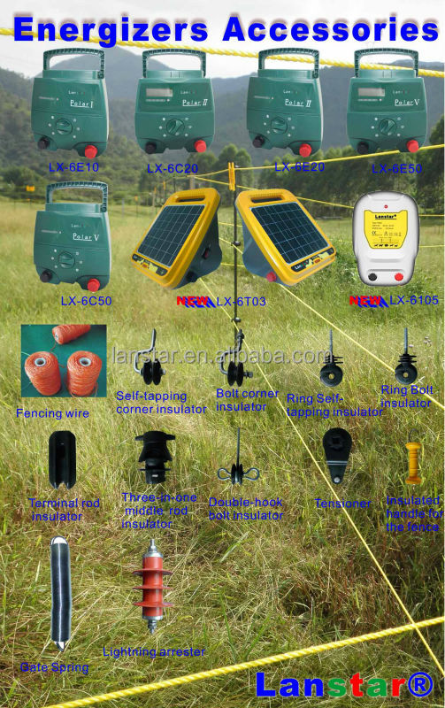 12KV Farm Security Electric Power Fencing, Protecting Livestocks And Animals, Solar Electric Fence Energizer