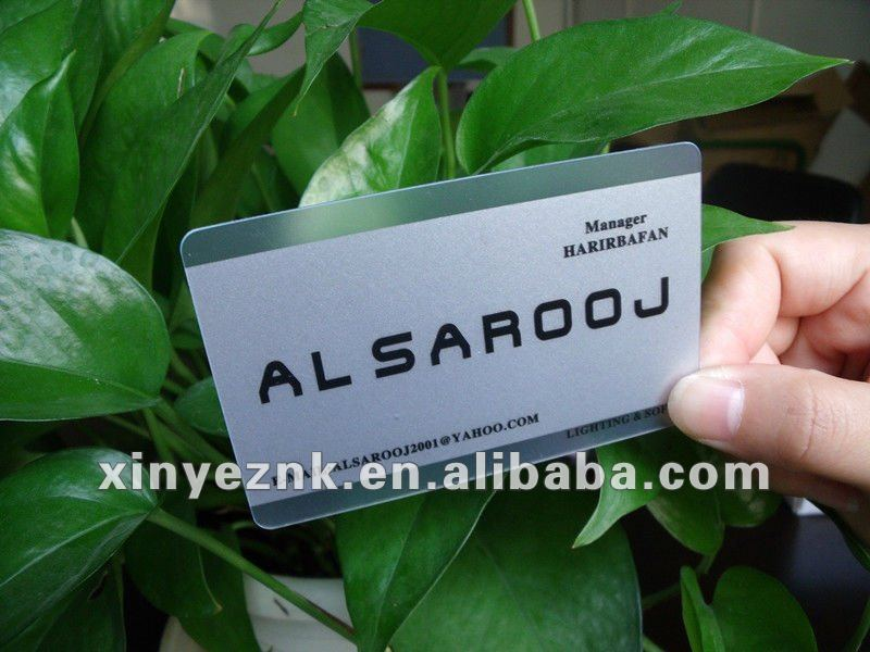Clear material frosted plastic business cards transparent plastic business card printing