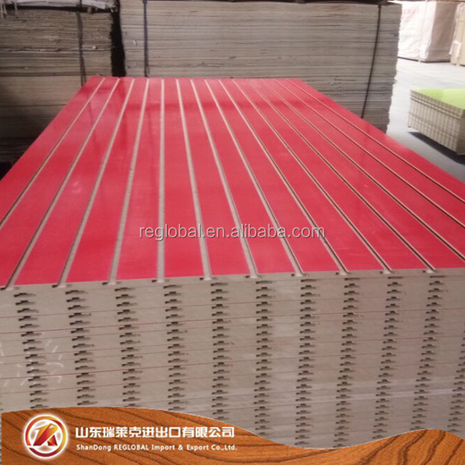 Hot sell U groove/slotted plywood used for Decoration Display