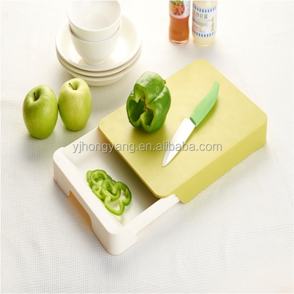 Plastic Material Kitchen Cutting Board With Drawer