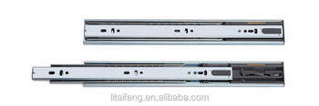 Kitchen cabinet soft closing ball bearing drawer slide,45mm telescopic channel drawer slide