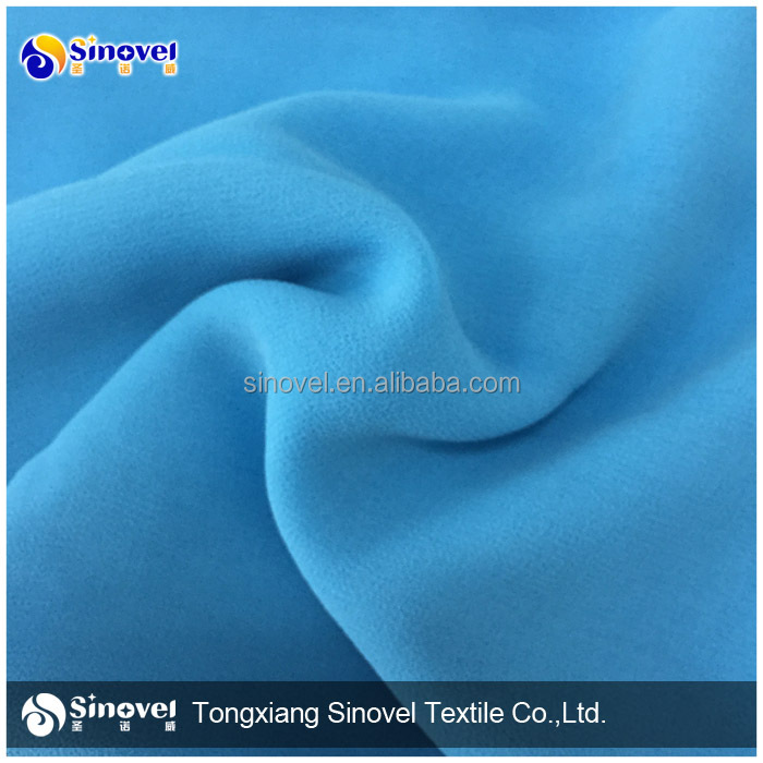 Wholesale 100% Polyester chiffon fabric organza chiffon fabric cheap for women garment