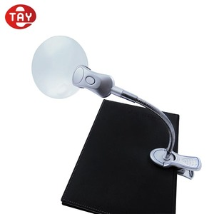 industrial magnifying glass with light stand clip on mighty bright hands free lighted magnifier