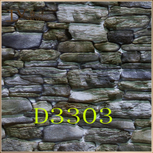 D3303 china interior decoration design natural brick stone 3d wallpaper