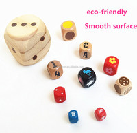 factory direct customize logo printed wooden number dice