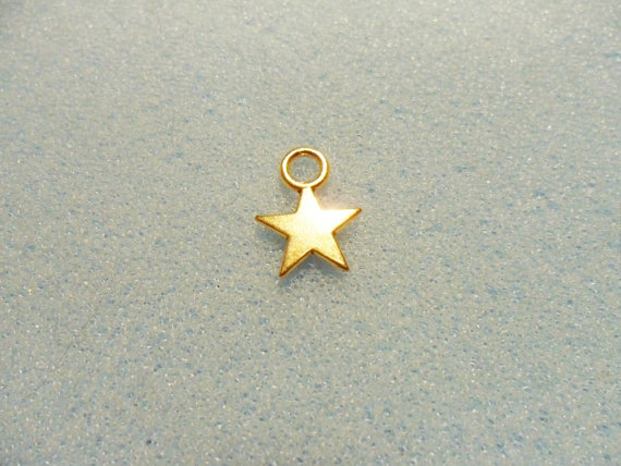 Small cute accessories fashion alloy star gold plated charms