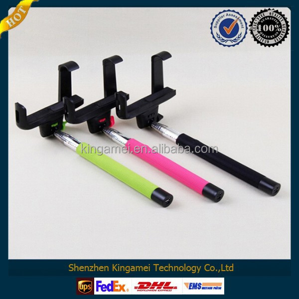 2014 new design and hot sale Phone holder +Camera Phones Telescopic Extensible Monopod For smartphone mini monopod