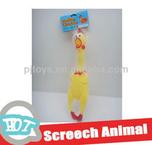 (40CM) soft plastic chicken with shrill cry animal toy vivyl toy