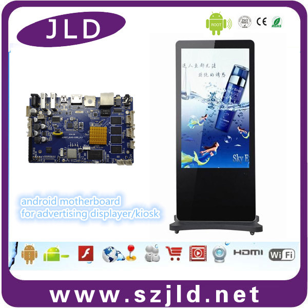 ANDROID4.4 quad core motherboard Support RTC wake up,ultra low standby consumption
