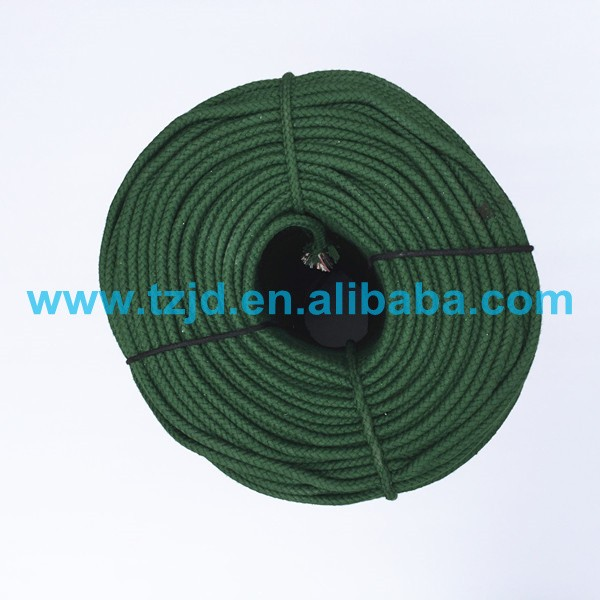 Dia. 6mm 8mm polyester cotton army green tent rope