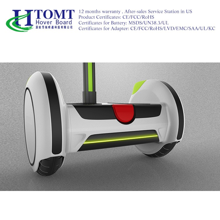 2016 HTOMT 14 inch Electrical Hoverboard Skate board handle Standing Two-wheel Self Balancing Smart Electric Scooter