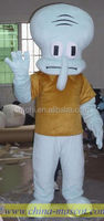 Squidward Tentacles mascot costumes head with cooling fan